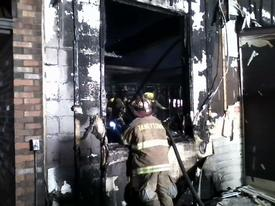 Side 'A/D' corner during overhaul. Photo: Lt. C. Harris