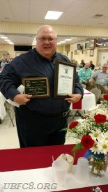"Eugene Curfman inducted into the CCVESA ""Hall of Fame"", May 14, 2016."