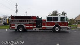Engine/Tanker 82. The unit is being sold with 800' of hose, 3000 gallon portable tank, a full compliment of ground ladders and other small equipment and tools.