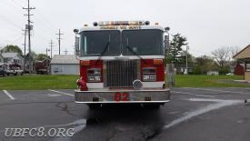 Engine/Tanker 82. 1991 Spartan/Grumman (8-man cab), 1000 GPM pump with a 1500 Gallon tank.